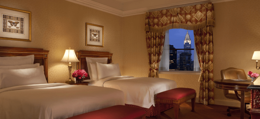 The richly appointed rooms at the Waldorf Astoria make it a popular redemption spot.
