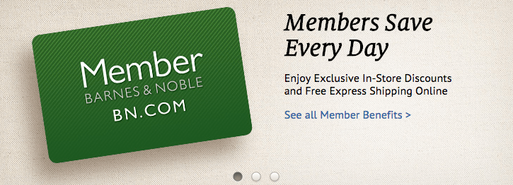 Get a discount on a Barnes and Noble Membership when buying on BN.com
