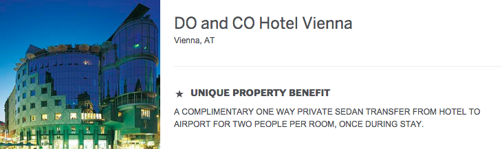 The DO and CO Hotel Vienna is also offering a 4th night free, but does not alert customers to the fact.
