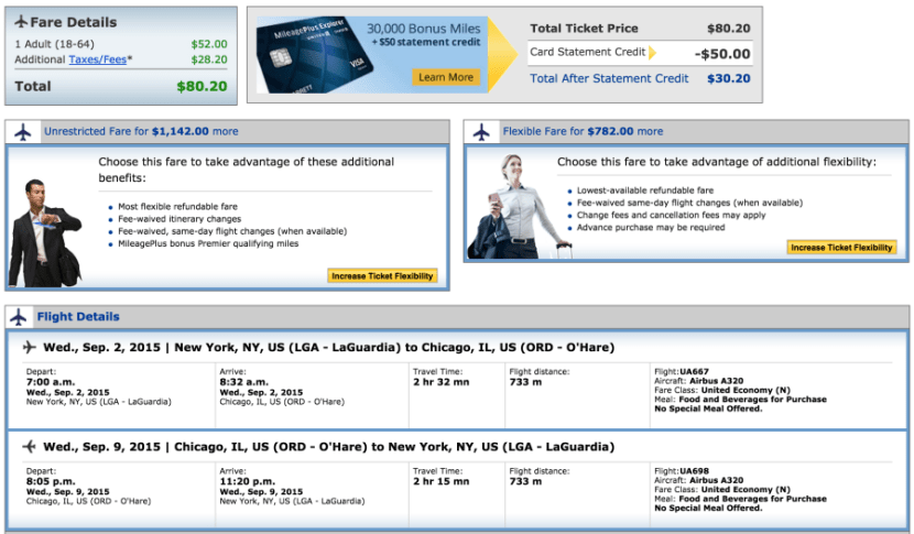 New York to Chicago for $80 on AA.