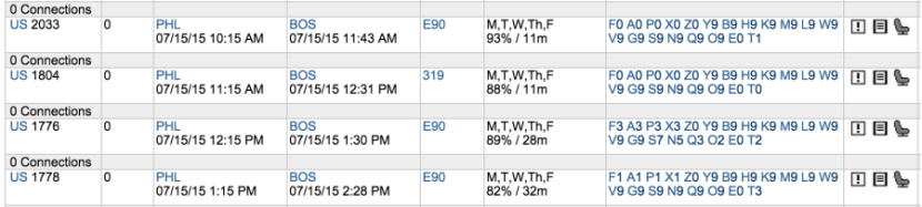 You can use ExpertFlyer to check which flights have open seats before asking for a MoveUp.