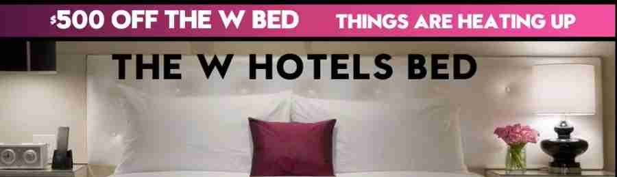 Get discounts on the W Hotels bed and bedding.