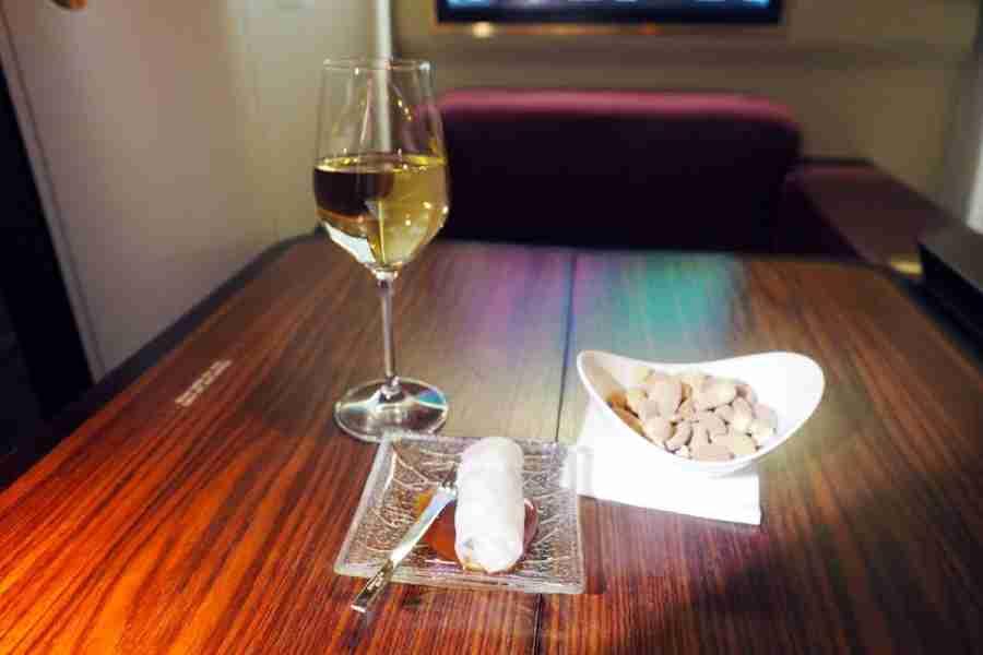 My pre-departure wine.