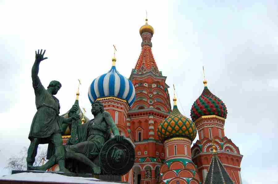 Seeing the onion domes of St. Basil