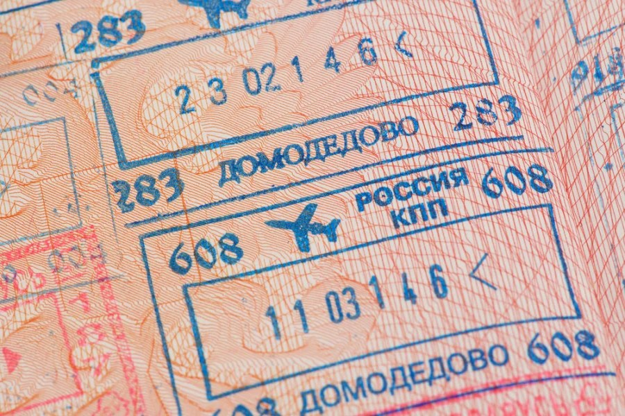 It takes a lot of work to get that Russian entry stamp. Photo courtesy of Shutterstock.
