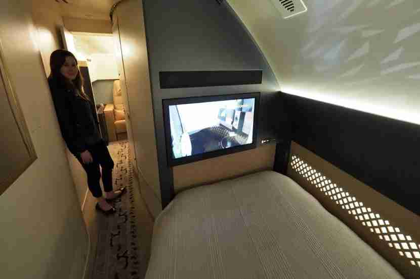 Etihad A380 The Residence - View from Bed