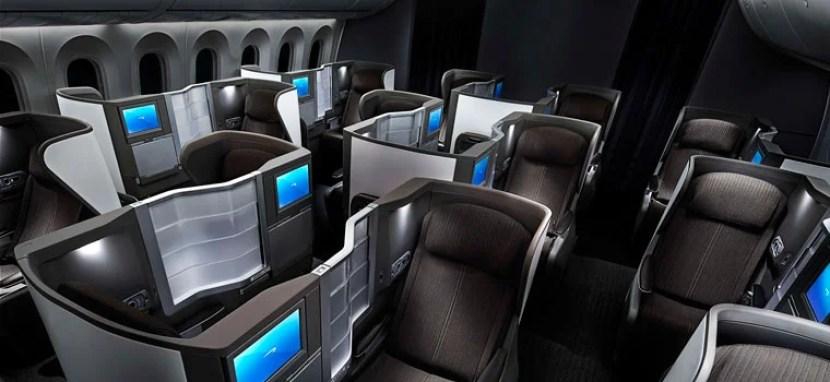Inside the British Airways Dreamliner.