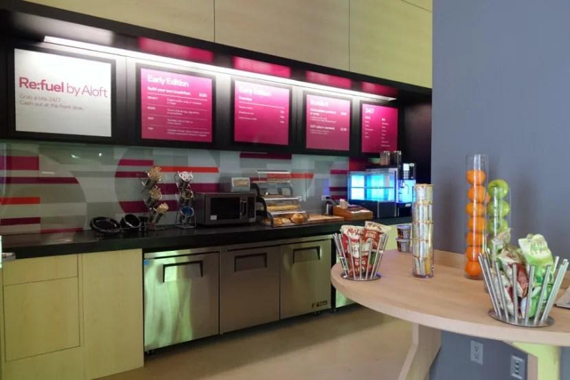 The Re:fuel breakfast bar.