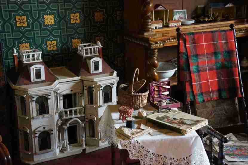 The children had a lovely playroom, as well — and a beautiful dollhouse.