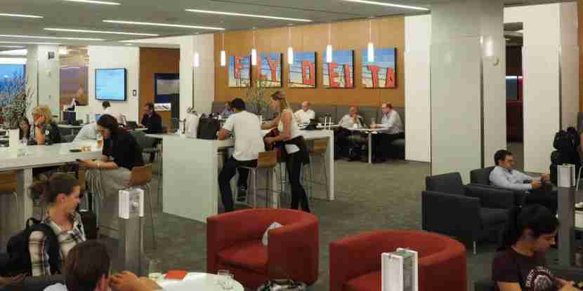 The Delta Sky Club lounge at JFK
