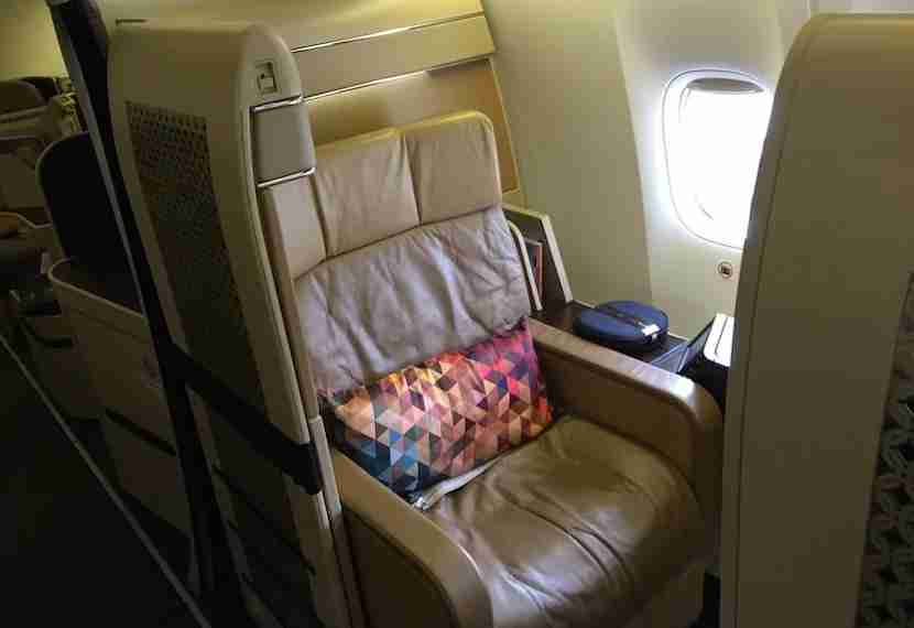 Though nice, the old first-class seat isn