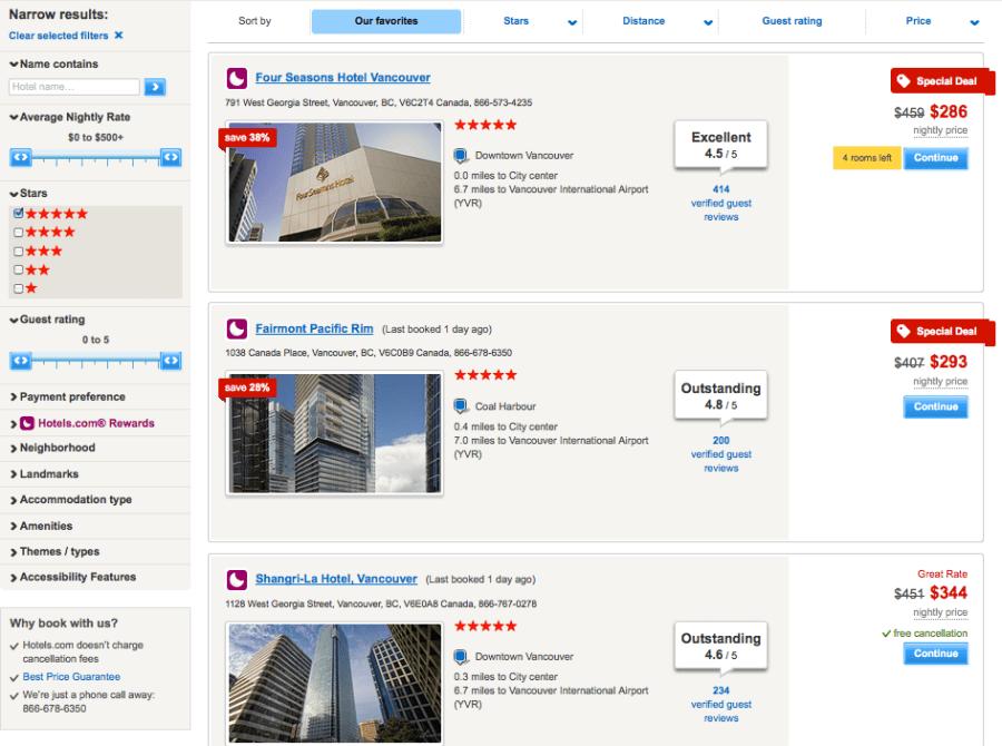 Hotelscom Vancouver