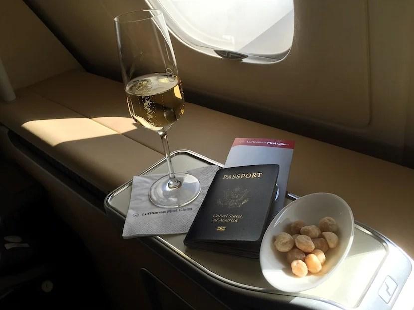 My pre-departure beverage and snack.
