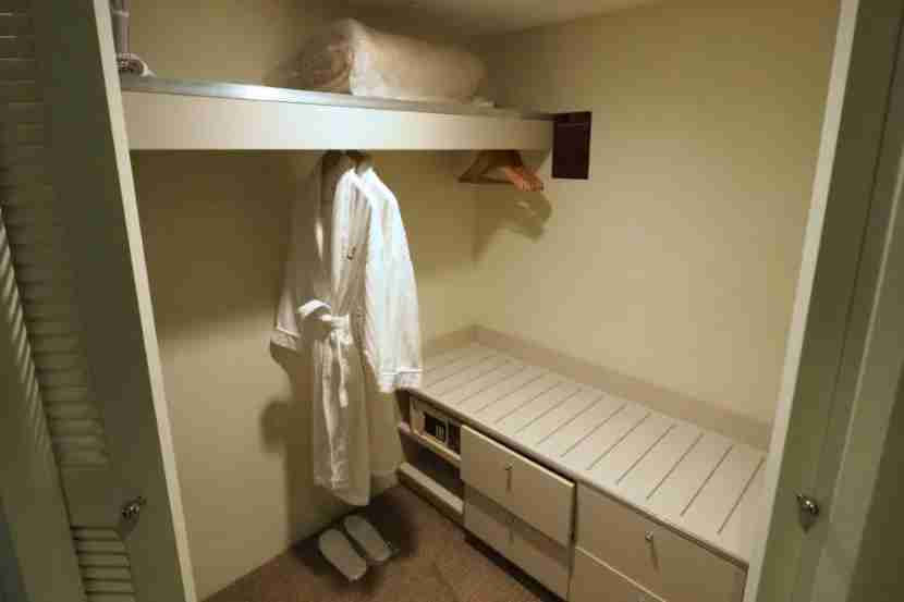 The Park View room had a sizable walk-in closet.
