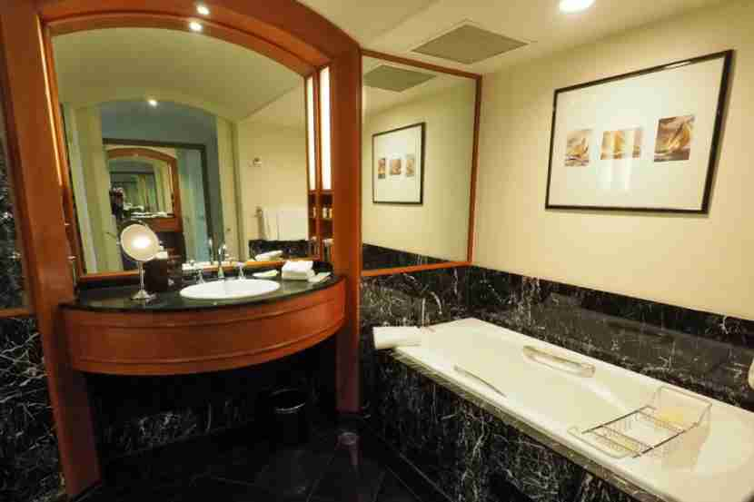 I actually preferred the bathroom in the Park View room over this bathroom in our Executive Suite.