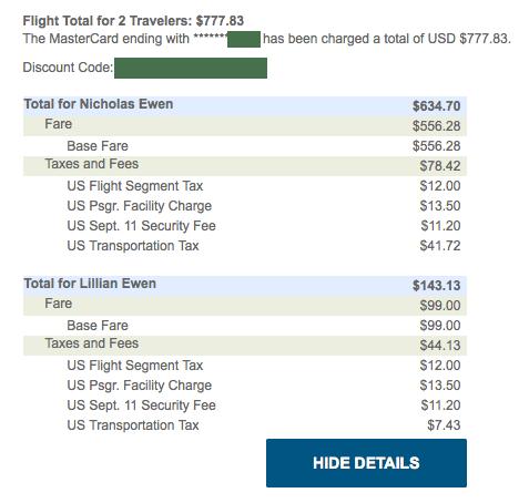 Alaska receipt