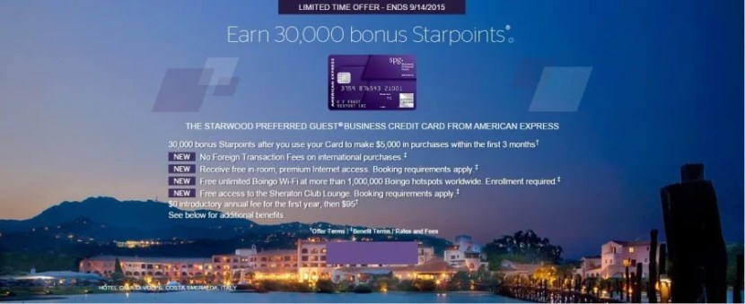 Already have the personal SPG card? Consider applying for the business version.