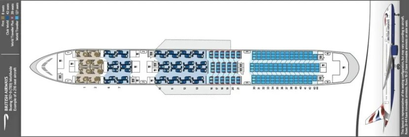 BA has released a seat map for the 787-9 but no photos of the new first class.