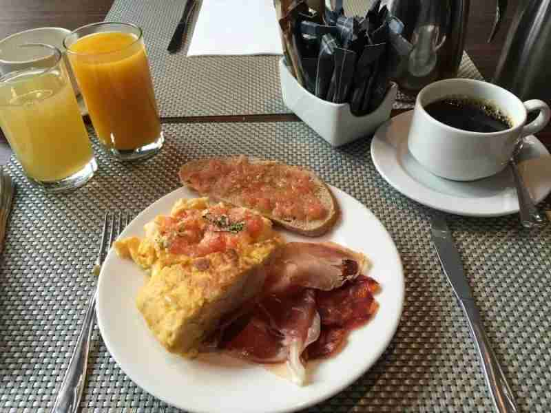 Breakfast at the AC Carlton is basic but filling.