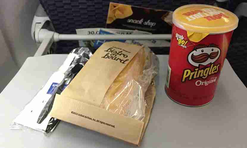 One of the possible meals for Economy Plus passengers.