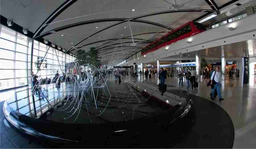 """The """"Water Feature"""" art installation is the cenetrpiece of DTW"""