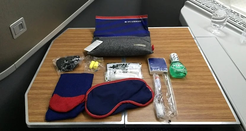 I was amused to get a US Airways heritage amenity kit.