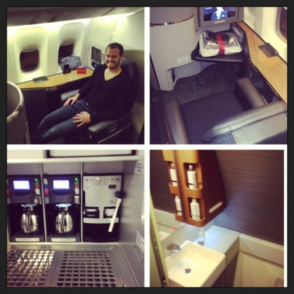 TPG flying AA's new first class in 2013.