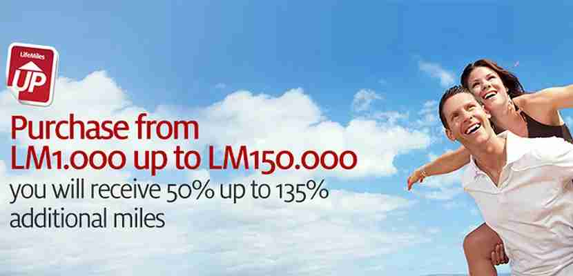 Avianca is offering a bonus of up to 135%.