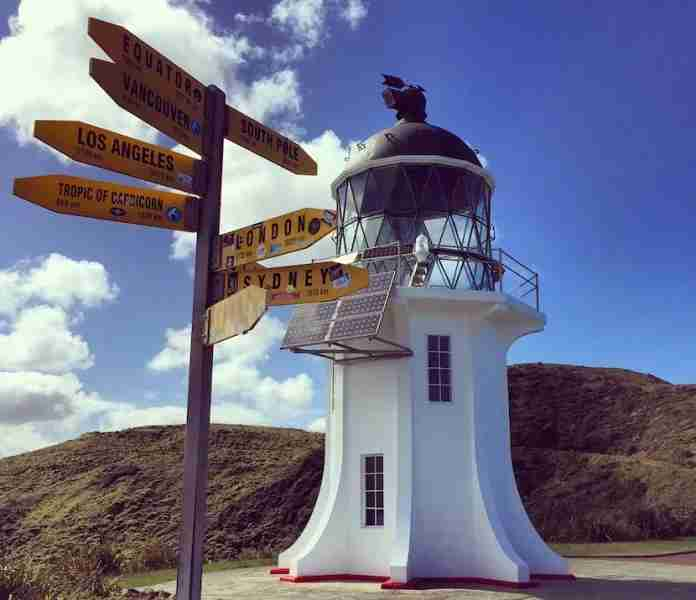 Visit the famous lighthouse at Cape Reinga, New Zealand