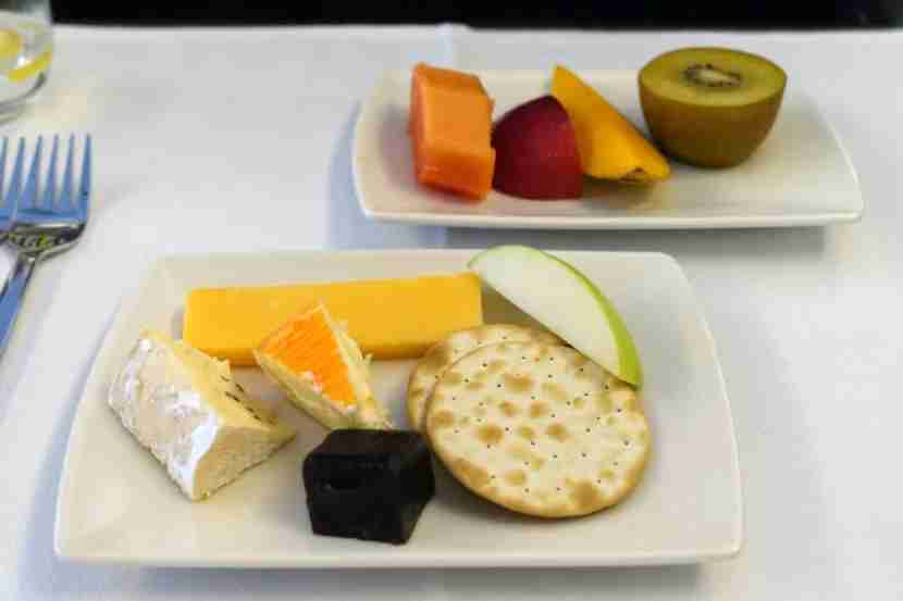 The fruit and cheese course.