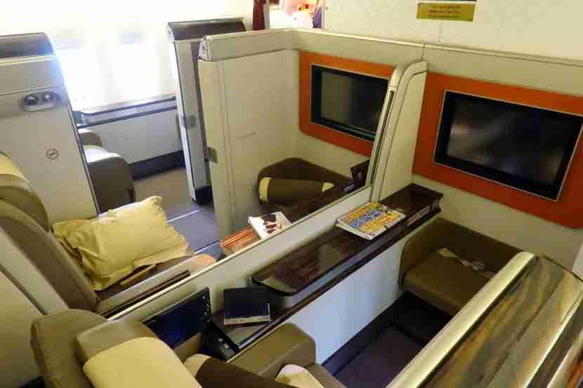 First class center seats.