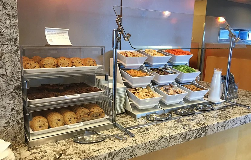 The lounge is just like any other Admirals Club, but I found upgraded food options when I visited.