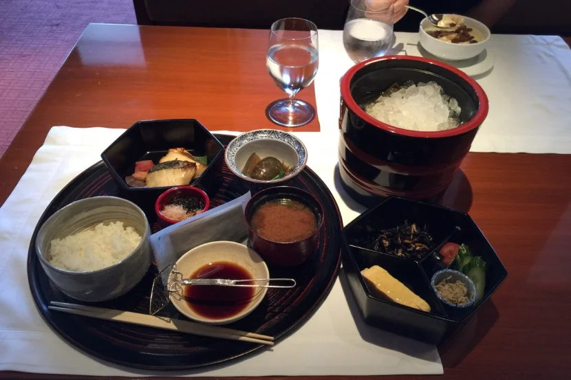 You can get the same Japanese breakfast in the restaurant, too.