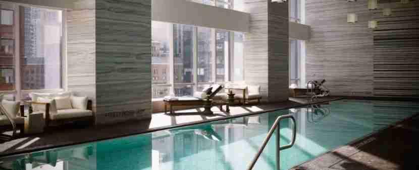 The pool at the Park Hyatt New York