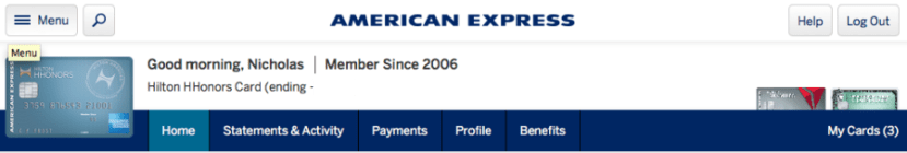 The first way to get discounts is through your online American Express account.