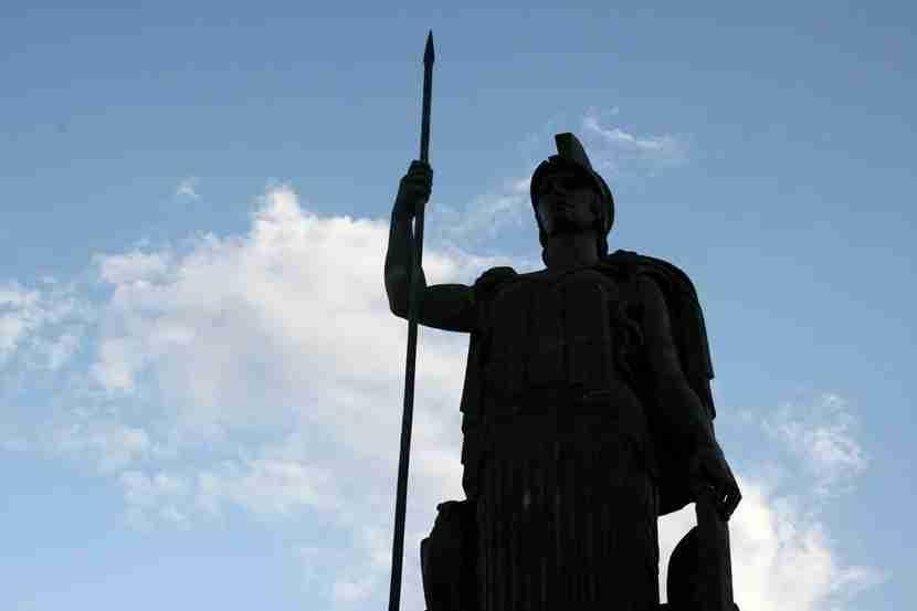 The Greek Atenea statue