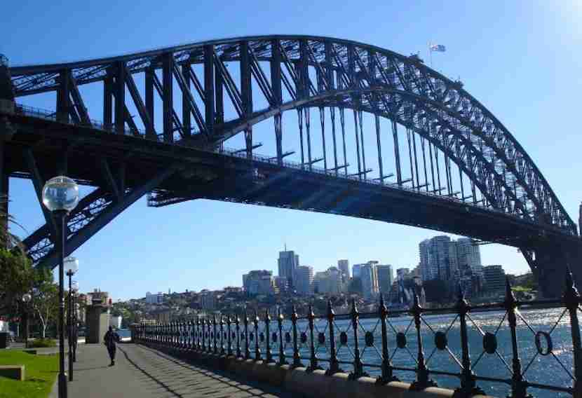 Time for a stroll along Sydney Harbour and past its famous bridge.