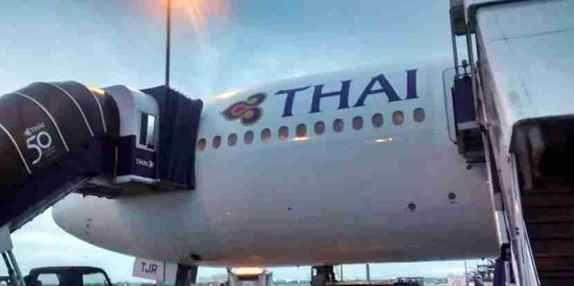 A review of Thai Airways economy from Madrid to Bangkok.