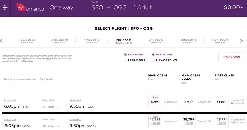 How To Book Award Flights with Virgin America