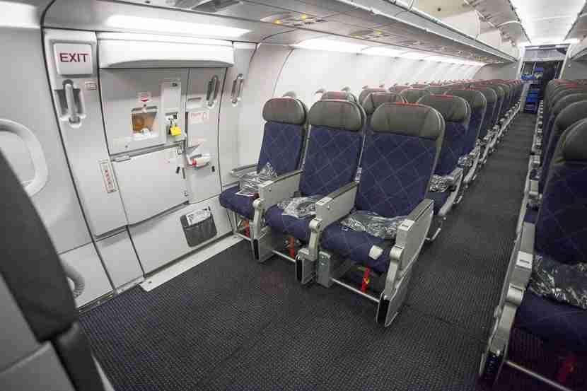 If you want the most legroom of any seat in the Main Cabin, choose the bulkhead seats with unlimited legroom.