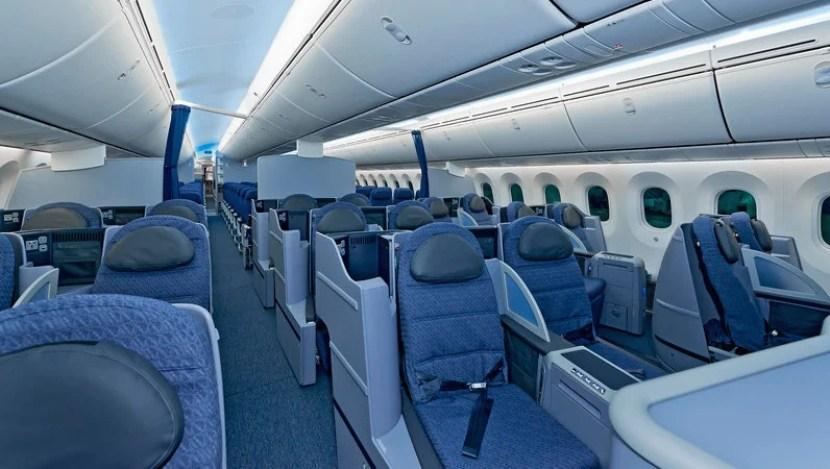 United's 787 Premium cabin.