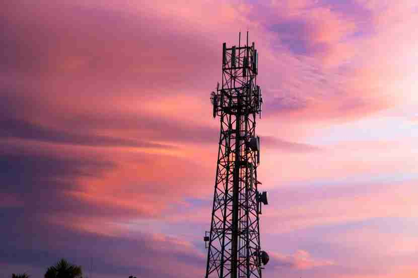 A lonely cell-tower landscape can equal a brief lack of service in the sky. Photo courtesy of Sy / Flickr.