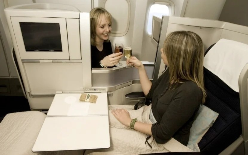 It could be awkward if you're not traveling with someone you know. Photo courtesy of British Airways.