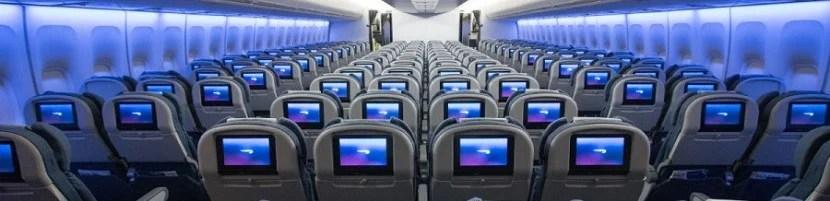 British Airways 747 in-flight entertainment screens.