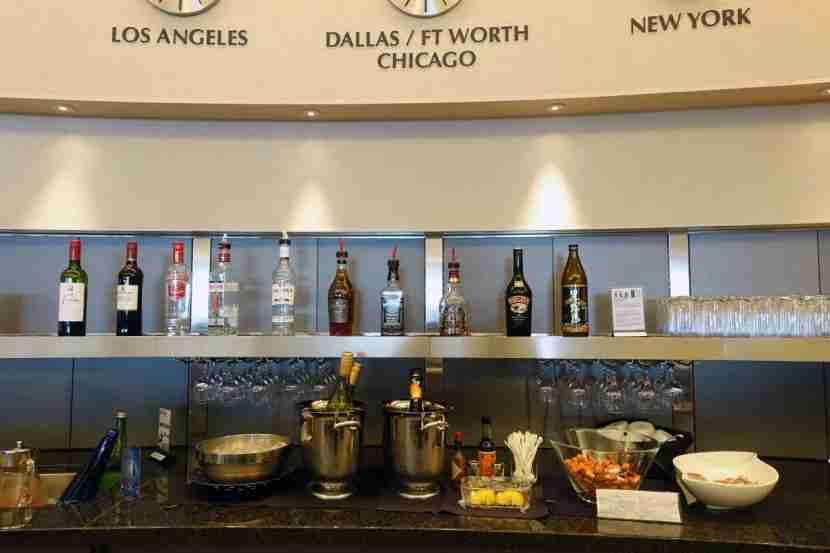 Admirals Club drink spread.