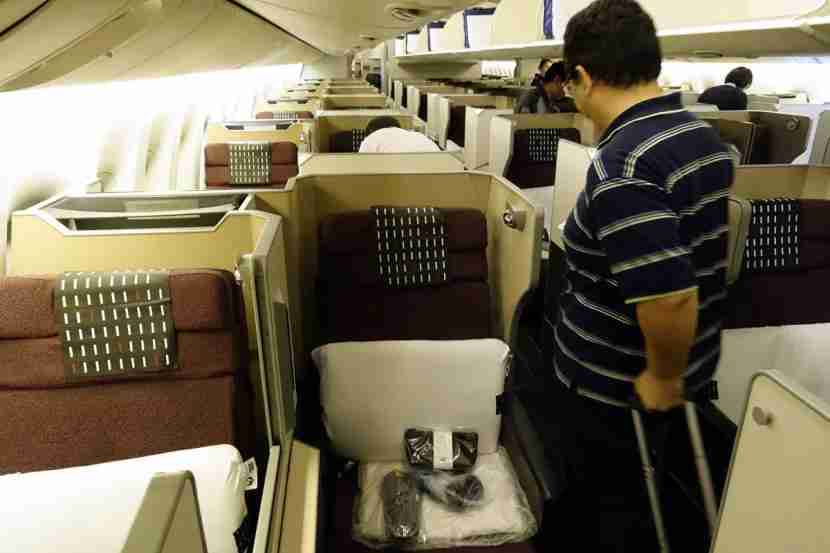 The much more crowded main business cabin.