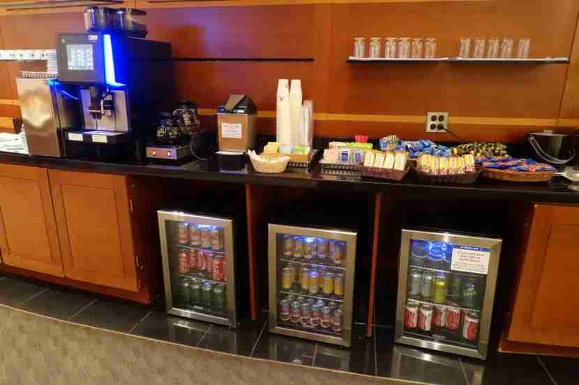 Beverages in the KAL Lounge.