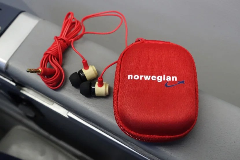 Premium passengers get free earbuds (which you can keep).