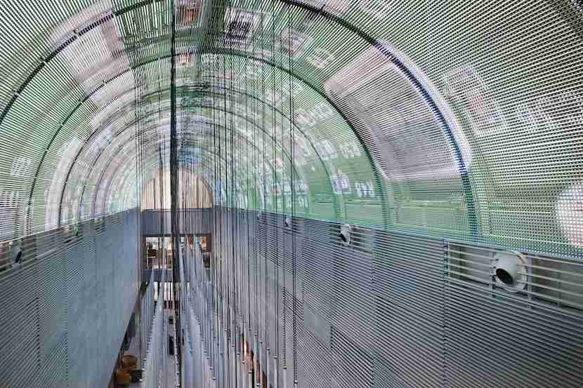 The LED vault ceiling at the NH Collection Eurobuilding in Madrid, Spain.