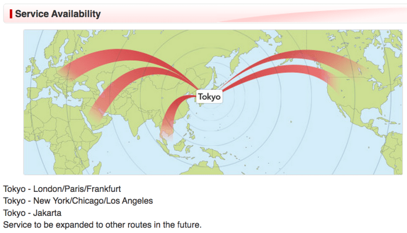 JAL offers satellite Wi-Fi on the routes above.